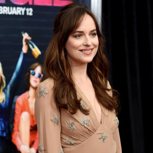Dakota Johnson Wears a Saint Laurent Gown