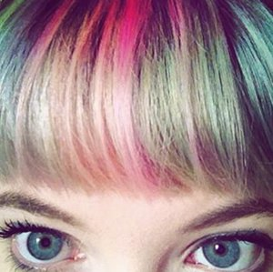 Rainbow Bangs Hair Color Trend