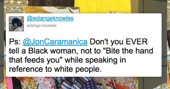 Solange Slams Racism In The Music Industry In 8 Perfect Tweets
