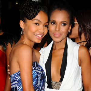 Kerry Washington and Yara Shahidi at NAACP Image Awards 2016