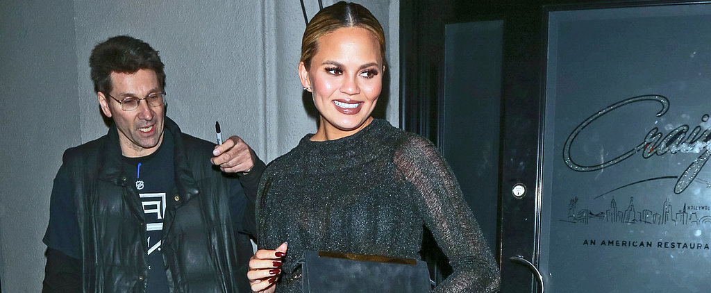 Chrissy Teigen Takes Sheer Delight in Her Turtleneck Dress — and That's Why It Works
