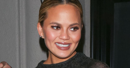 Pregnant Chrissy Teigen Rocks A Sheer, Tight Dress