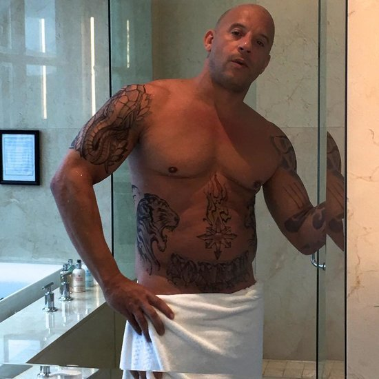 Vin Diesel Posts a Shirtless Photo on Instagram 2016