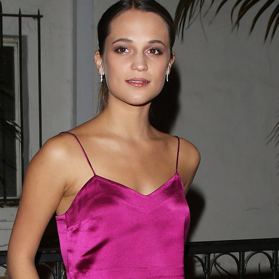 Alicia Vikander Wears Barbara Casasola Pink Set | 2016