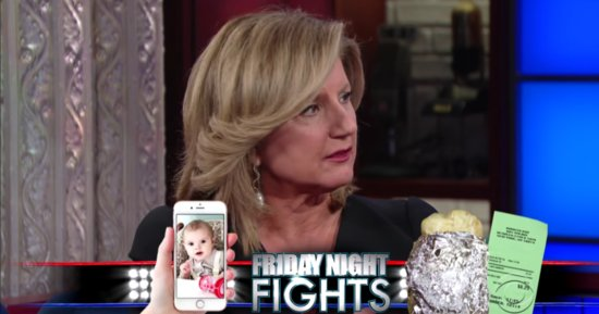 Arianna Huffington Makes The Case For Baby Photos Over Free Guac