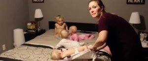 This Video of a Mom vs. Her Triplets and Toddler at Bedtime Is Going Viral