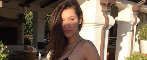 What Jeans? Bella Hadid's Itty-Bitty Bikini Is the Sexiest Super Bowl Outfit We've Ever Seen