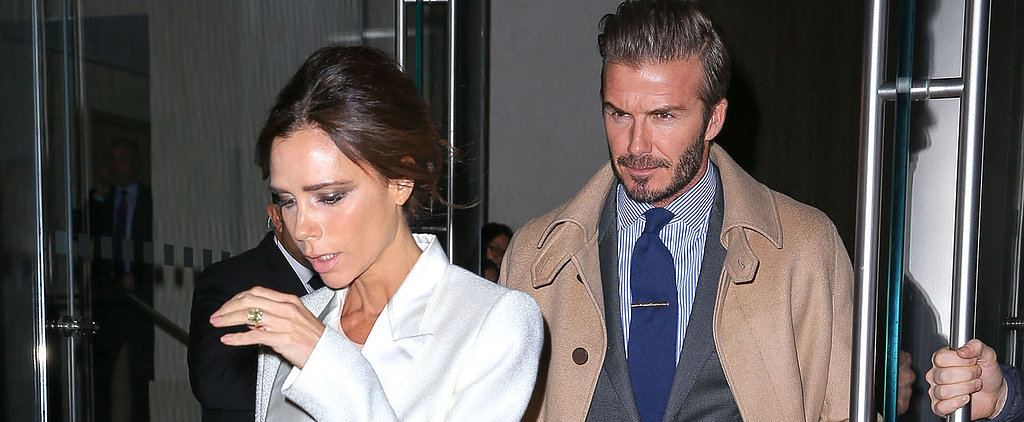 Victoria Beckham and David Beckham Double the Suits on Date Night