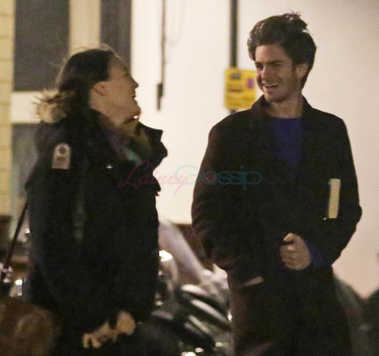 Andrew Garfield has dinner in London with female companion