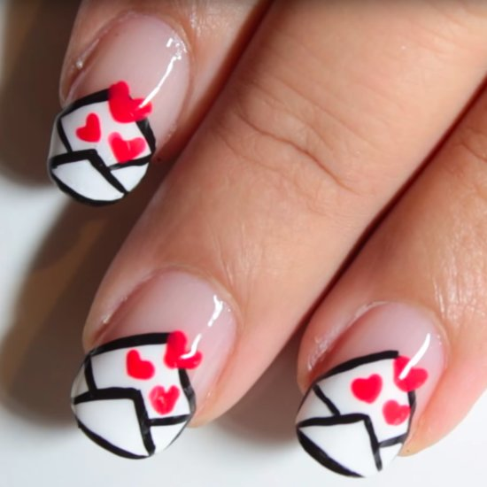 Love Letter Nail Art Tutorial
