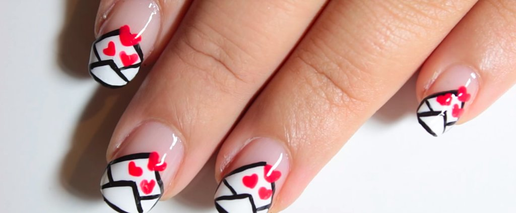 Spruce Up Your Valentine's Day Nails With This Easy Love-Letter DIY