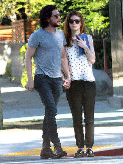 Games of Thrones Stars Kit Harington and Rose Leslie Hold Hands Amid Romance Rumors