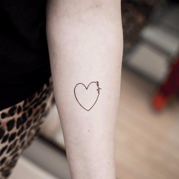heart tattoo ideas popsugar love sex. Black Bedroom Furniture Sets. Home Design Ideas