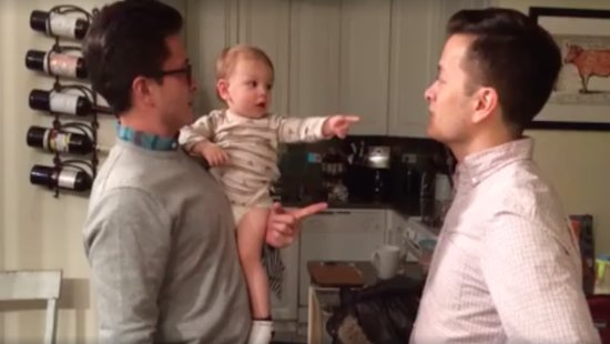 WATCH: This Baby Got Totally Confused By His Dad's Twin