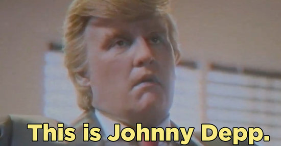 Johnny Depp Played Donald Trump In A Fake Movie And It's The Stuff Of Nightmares