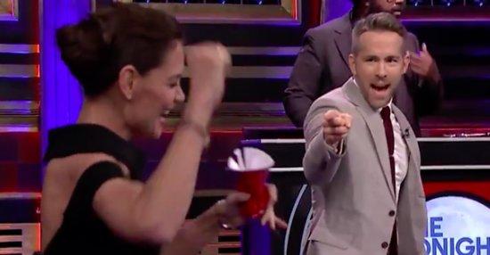 Katie Holmes Wrecked Ryan Reynolds In A Game Of Musical Beers