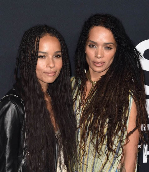 Zoe Kravitz at Saint Laurent with Lisa Bonet, Lenny Kravitz, and boyfriend Twin Shadow
