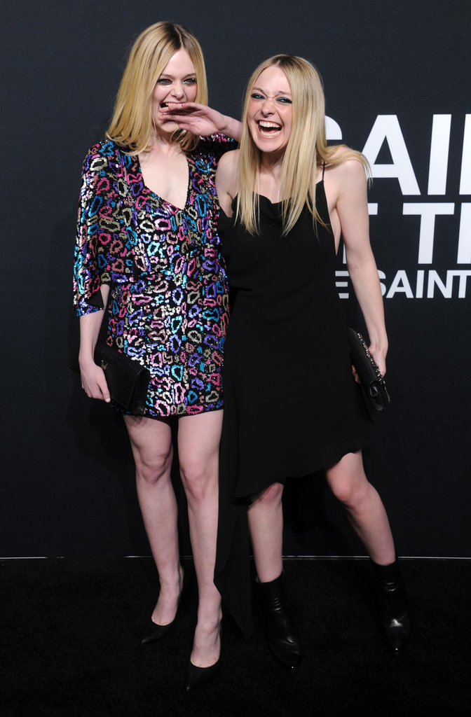 Elle and Dakota Fanning Shared a Laugh