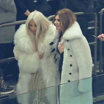 Kim Kardashian's Outfit at Yeezy Season 3 Show