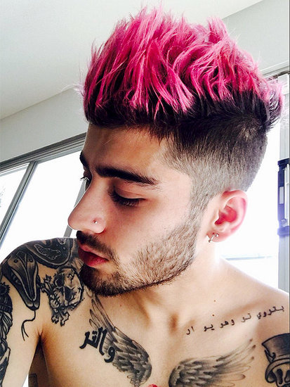 Zayn Dyed His Hair Pink Just in Time for Valentine's Day