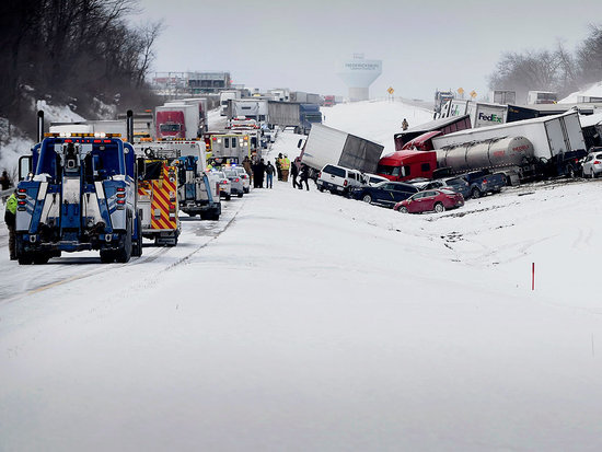 'It Was a Total Whiteout': Severe Weather Causes 50-car Pileup in Pennsylvania, Leaving at Least 3 Dead