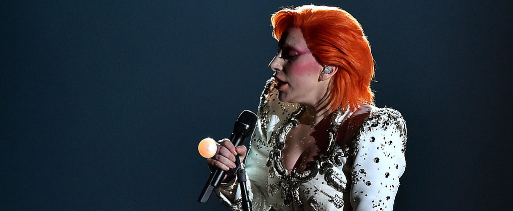Lady Gaga Served Full David Bowie Fierceness at the Grammy Awards