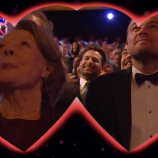 Leonardo DiCaprio Kisses Maggie Smith at BAFTA Awards 2016