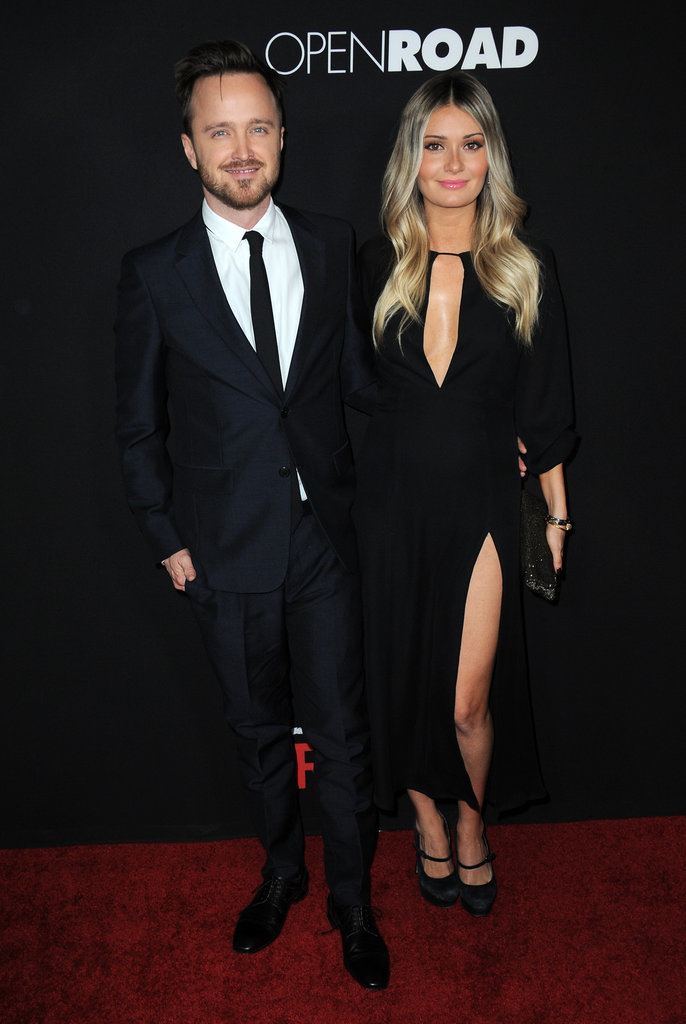 Aaron Paul and Wife on Red Carpet February 2016 | POPSUGAR ... Aaron Paul Wife