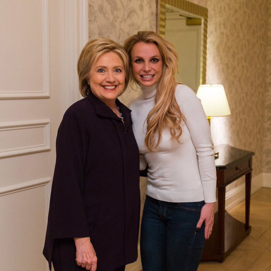 Britney Spears Meeting Hillary Clinton