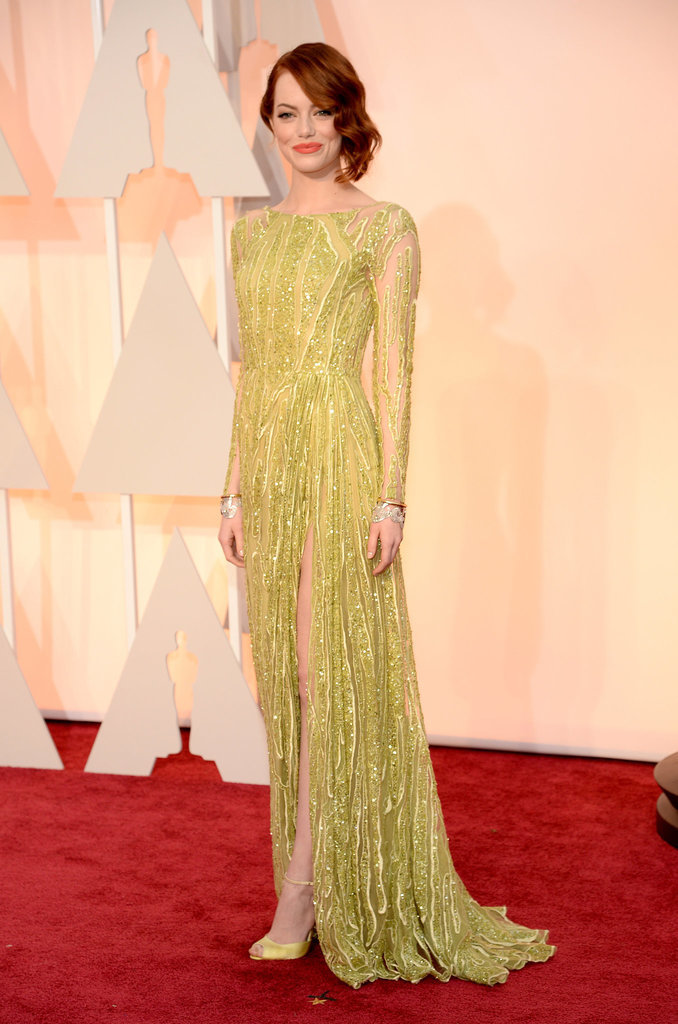 Emma Stone at the 2015 Academy Awards