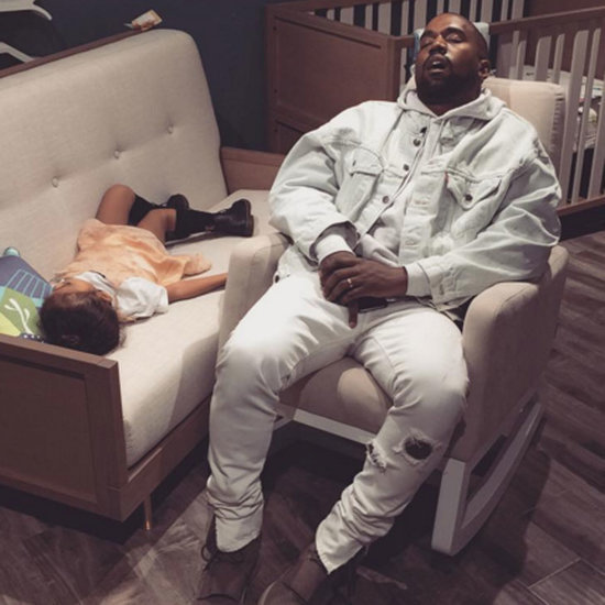 Kim Kardashian Photo of Kanye and North Sleeping
