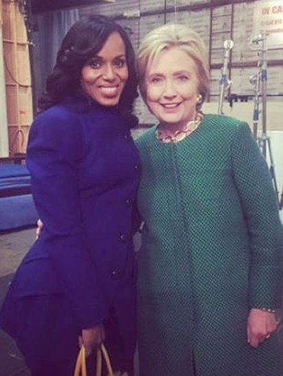 New Gladiator in Town: Hillary Clinton Visits the Set of Scandal