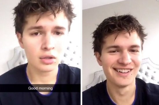 Ansel Elgort Melted A Million Hearts With His Singing On Snapchat