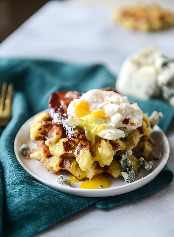 Bacon Blue Cheese Mashed Potato Waffles | 25 Outrageously Indulgent ...