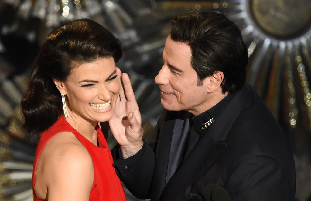 Idina Menzel and John Travolta had an awkward reunion on stage after his infamous Adele Dazeem flop in 2015.