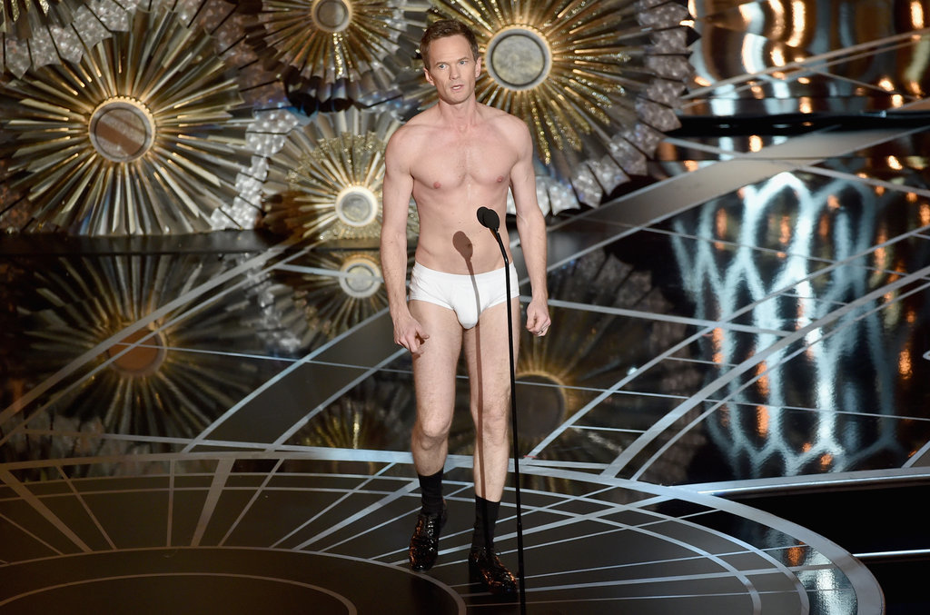 Neil Patrick Harris hosted the 2015 Oscars in nothing but his briefs and socks.