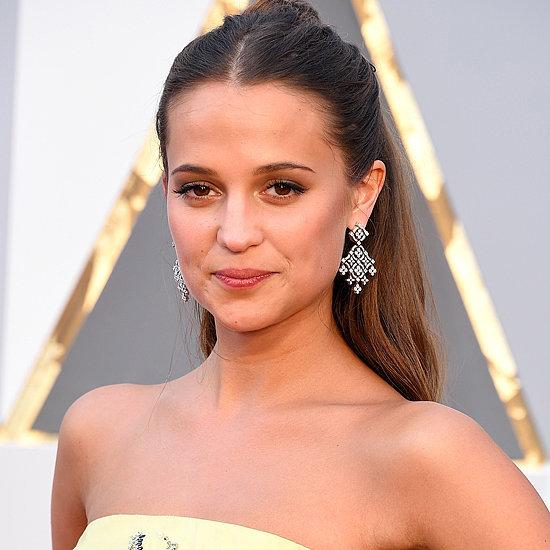 Alicia Vikander Louis Vuitton Dress at Oscars 2016