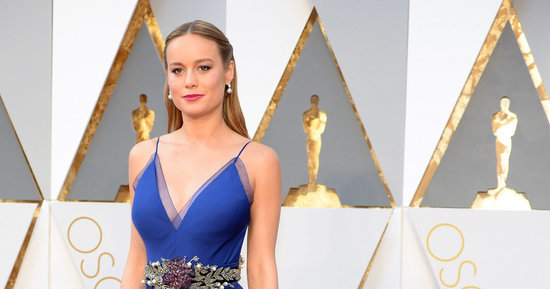 Brie Larson Is Breathtaking In Blue On The Oscars Red Carpet