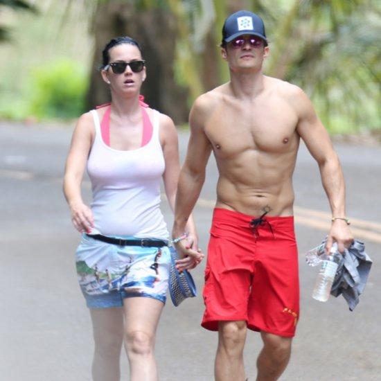 Katy Perry Orlando Bloom Hold Hands in Hawaii February 2016
