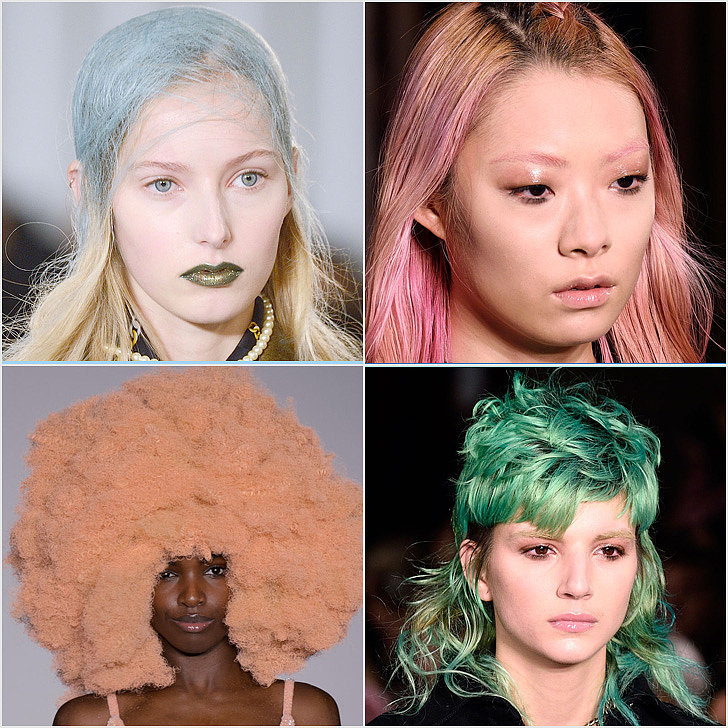 rainbow hair at fashion week fall 2016 popsugar beauty. Black Bedroom Furniture Sets. Home Design Ideas