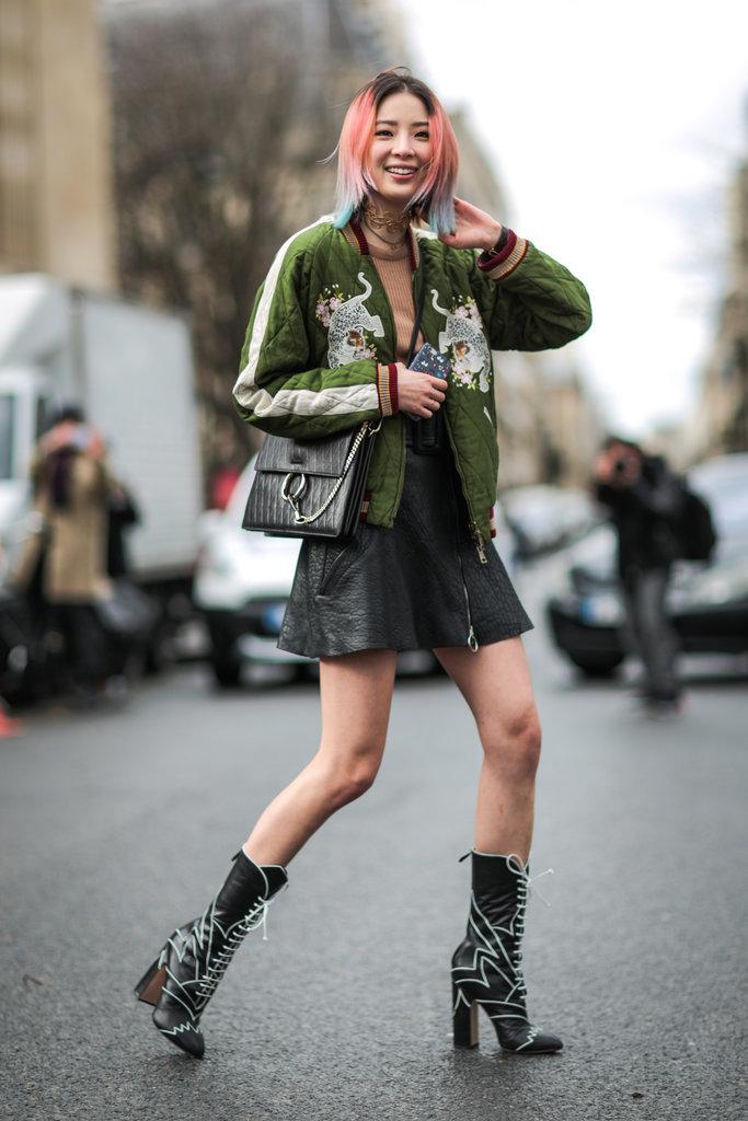 Model Street Style At Paris Fashion Week Fall 2016 Popsugar Fashion Australia