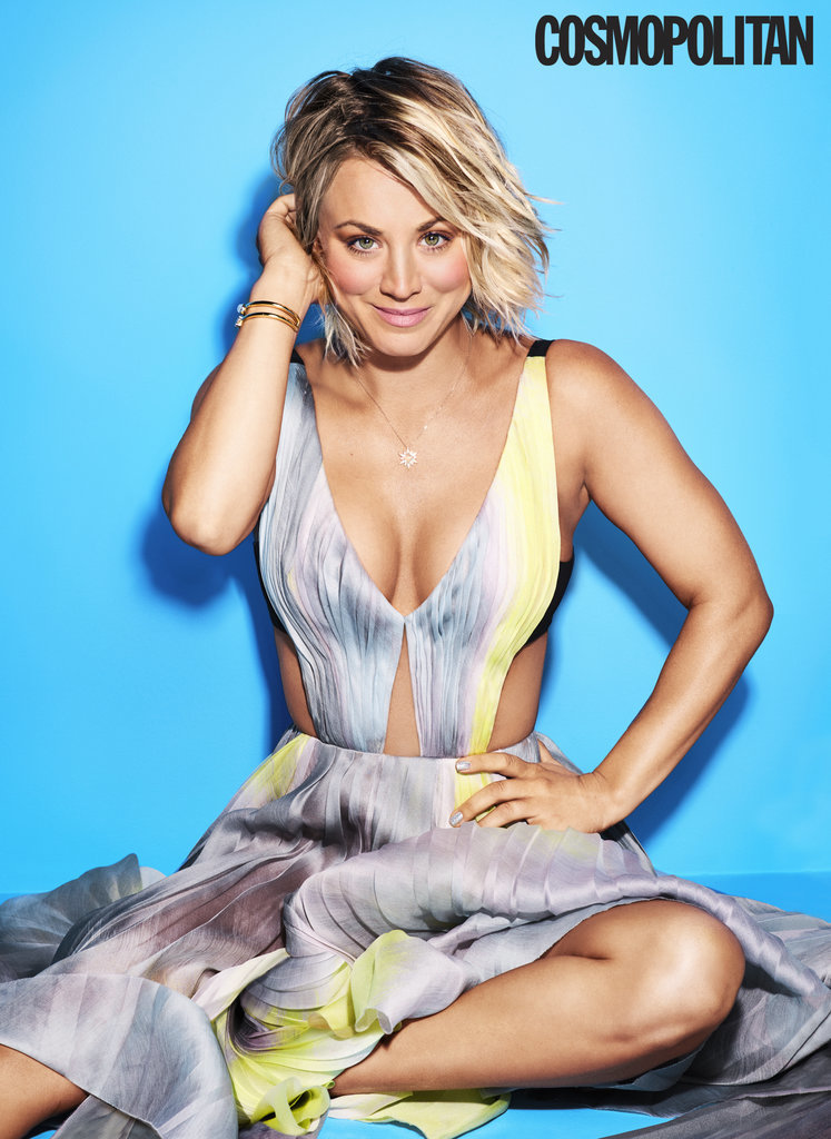 Kaley Cuoco puts her best foot forward on the cover of April's Cosmopolitan. Inside the stunning cover, the Big Bang Theory star opens up about her recent split from husband Ryan Sweeting, her rumored romance with costar (and former fling) Johnny Galecki, and even the problematic comments she made about feminism last year.