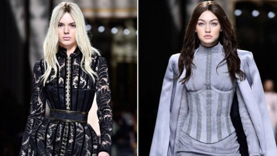 Kendall Jenner & Gigi Hadid Traded Hair Colors For The Balmain Show In Paris