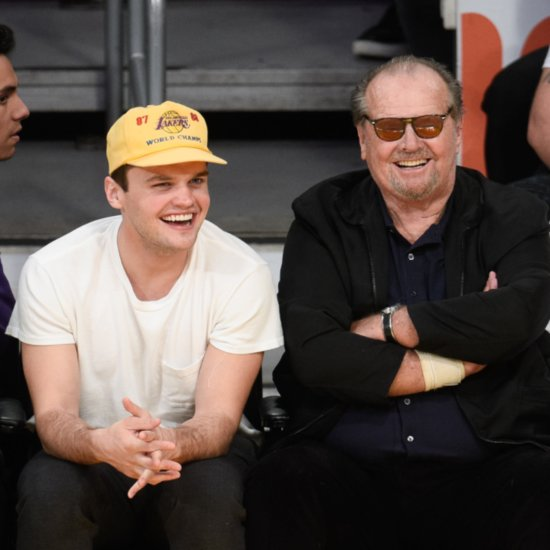 Jack Nicholson and Son Ray at Lakers Game March 2016