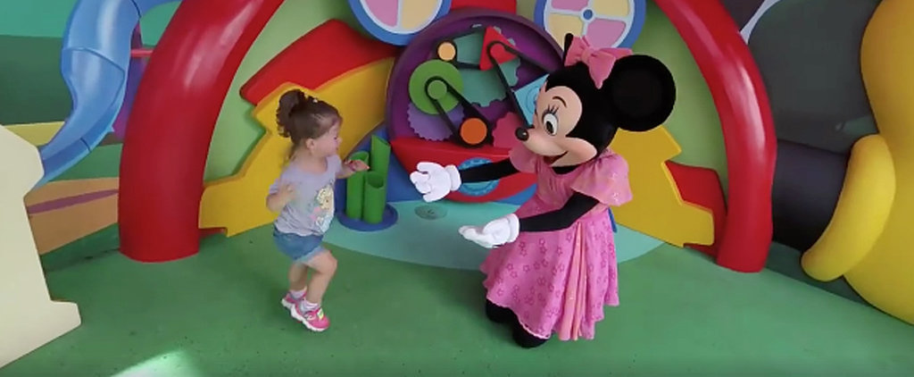 Every Disney Fan Can Relate to This Little Girl's Pure Joy Over Meeting Minnie Mouse