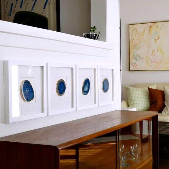 This DIY Agate Wall Art Is Head-Turningly Stylish — and Shockingly Simple