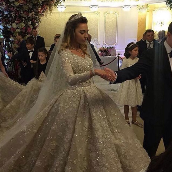 This Russian Bride's Elaborate Wedding Gown Will Absolutely Blow Your Mind
