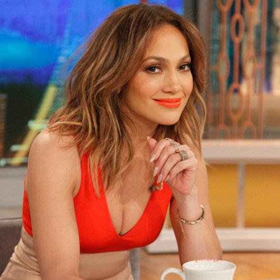 Jennifer Lopez Wearing Orange Lipstick