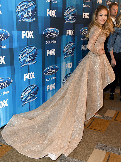 Jennifer Lopez's Giant Train! Carrie Underwood's Sheer Feathers! Every Idol Finale Style Moment You Cannot Miss