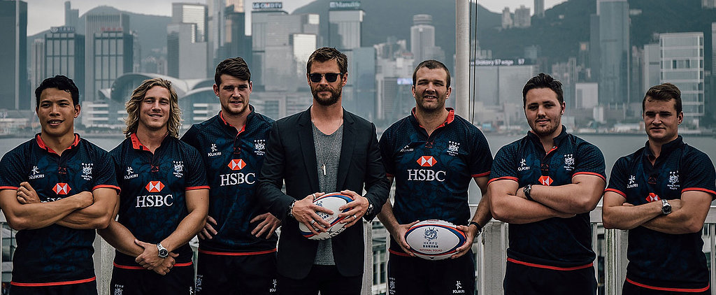 These Photos of Chris Hemsworth Posing With a Rugby Team Might Actually Kill You Dead